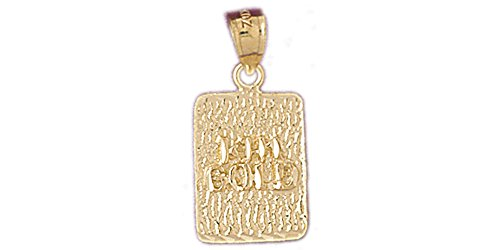 14k Yellow Gold Nugget Pendant (Pendant Nugget Gold 14k Yellow)