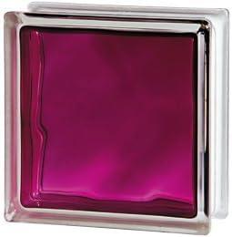 10x Glasbaustein Wolke ruby Brilliant 19x19 cm