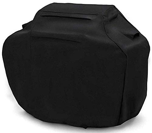 - BBQ Cover 58 Inch Grill Cover Waterproof Barbeque Cover Heavy Duty Barbecue Cover Grill Accessories Fabric Windproof BBQ Cover for Grill fits Weber Brinkmann Dyna Glo Char Broil Jenn Air