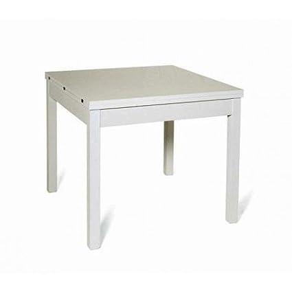 Tavolo Vetro Allungabile 90x90.Azurlone Tavolo 90 X 90 Bianco Allungabile A Cm 180 Amazon It Casa
