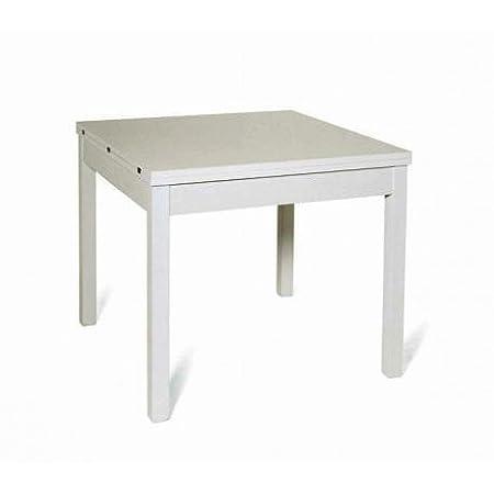 azurlone Tavolo 90 x 90 Bianco allungabile a cm 180: Amazon ...