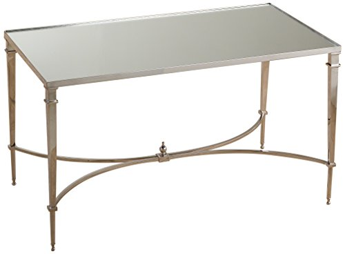 (Global Views French Square Leg Table, Oversized Item/Nickel and Mirror)