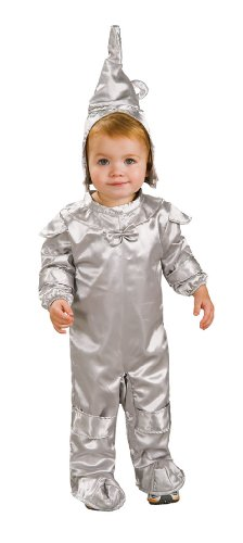 Wizard Of Oz Tin Man Romper Costume, 1 to 6 (Tin Man Baby Costume)