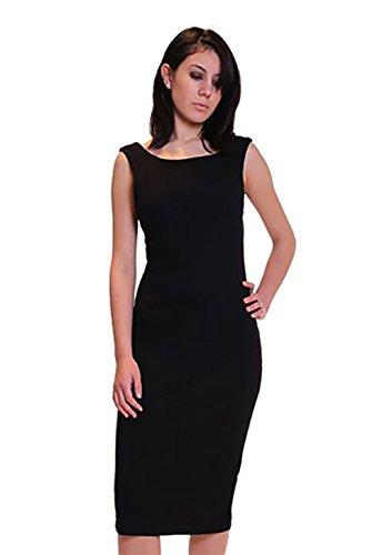 Bobi Womens Dress (Bobi Tank Dress in Black (Medium))