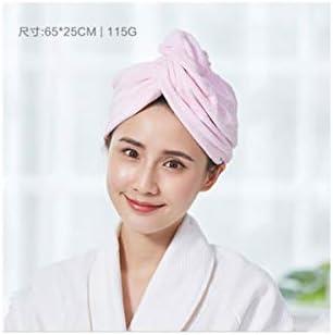 CQIANG ル・グリフィス、太いドライヘアーキャップ、ドライヘアー帽子素敵な女性、強い吸収性ドライヘアーキャップ、ヘアシャンプー髪ラブシャワーキャップ速乾性タオル包頭の長さ、オプションのAバラエティ (Color : Pink, 款式Style : C)