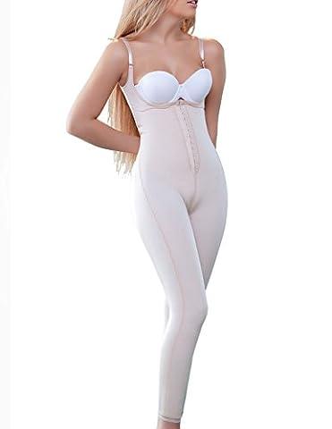 Vedette Shapewear 932 ANN Long Leg Body Shaper w/ Front Closure Nude XX-Large