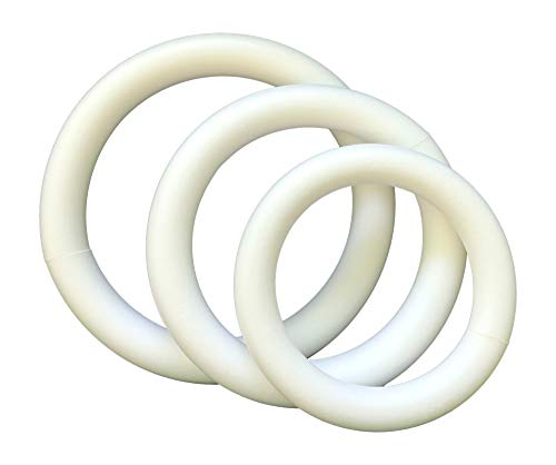 Extruded Styrofoam Wreath Craft Variety Pack of 3 Sizes- 10 x 1.75, 12 x 1.75, 14 x 1.75 Inches