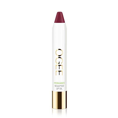 Ogee Sculpted Tinted Lip Oil - Organic & Natural Lip Primer, Moisturizer & Treatment Balm - Dahlia (Burgundy Wine Color)