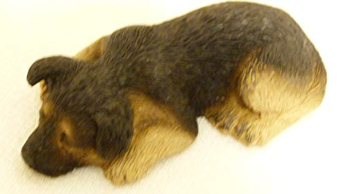 Sandicast Vintage 1988 Dog Figurine German Shepherd Pup S45 Handcrafted Made in USA