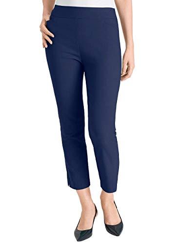 Chico's Women's So Slimming Brigitte Slim Crops Size 10 M (1.5) Blue