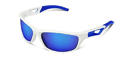 Polarized Sports Sunglasses UV100% for Motorcycle Cycling Fishing Golf Tinted Lens by C&L
