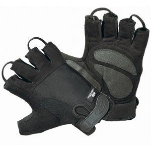 LiquiCell Wheelchair Gloves - Half Finger LARGE