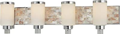 Minka Lavery 3241-77, Cashelmara Glass Wall Sconce Lighting, 1 Light, 100 Total Watts, Chrome