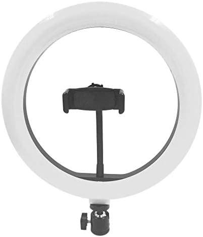 定常光ライト カメラの写真のための写真のLED自分撮りラウンドライト照明調光対応ワイド調光範囲ライト ビデオ撮影照明対応 (色 : Black, Size : One size)