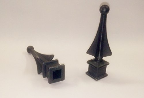 "Plastic Finial (50 Each for 1/2"" Black Plastic Finial Tops for Iron Picket Fence 4-Sided Spire – Shipping Included)"