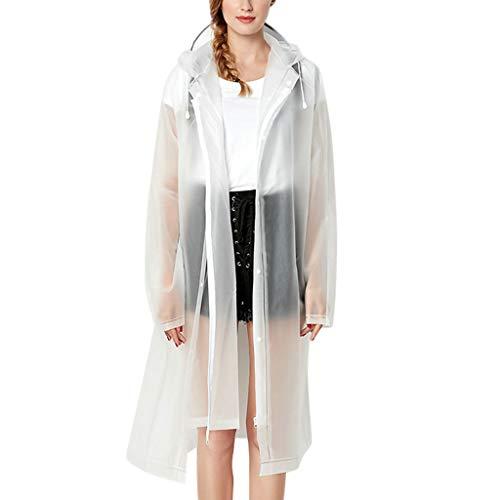 Women's Rain Jacket, Jiayit Womens Raincoat Lightweight Waterproof Jacket Windbreaker Outdoor Hooded Zip up Rain Jacket