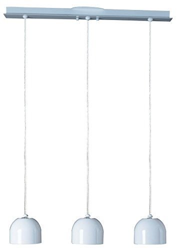 ET2 E30603-01 Brahma 3-Light Linear Pendant, White Finish, Frosted Glass, G9 Frost Xenon Bulb, 3W Max., Dry Safety Rated, 2900K Color Temp., Low-Voltage Electronic Dimmer, Glass Shade Material, 3000 Rated Lumens