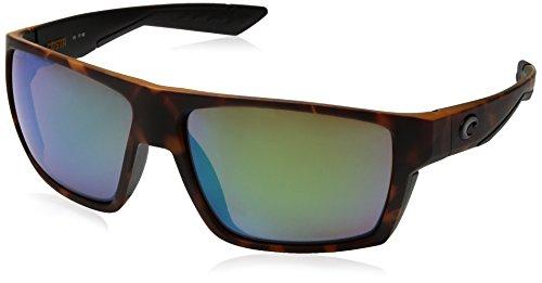 Costa del Mar Men's Bloke Polarized Iridium Square Sunglasses, Matte Retro Tortoise + Matte Black, 61.2 - Ny Pads Prescription