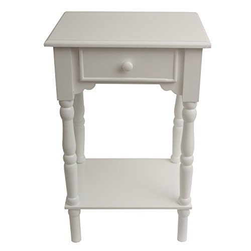 Décor Therapy FR1787 End Table, (Scalloped Side Table)