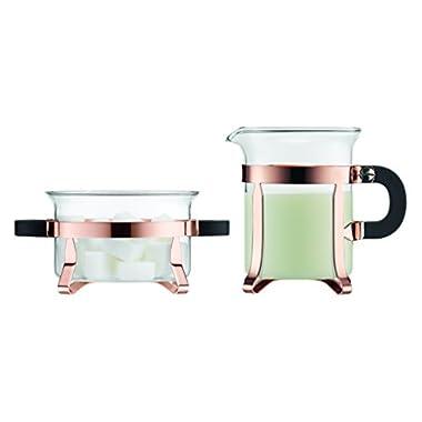 Bodum Chambord Classic Sugar and Creamer Set, Copper