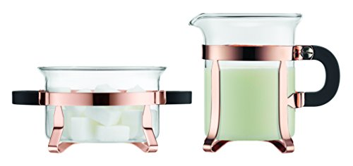 Bodum Chambord Classic Sugar and Creamer Set, Copper (Center Sugar Bowl)