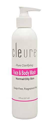 Cleure Gentle Hypoallergenic Face & Body Wash - Paraben Free, Fragrance Free (8 oz)