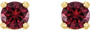 Set-Youth Imitation Birthstone Earrings