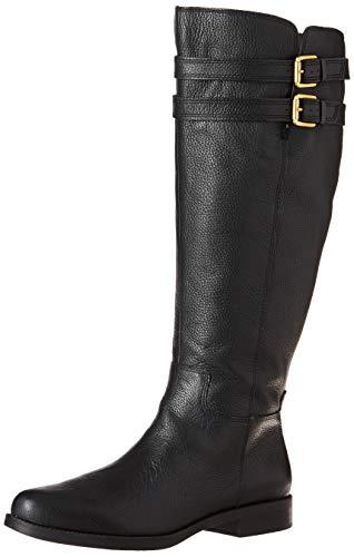 Franco Sarto Women's Christoff Equestrian Boot , Black, 10   M(Wide Calf)