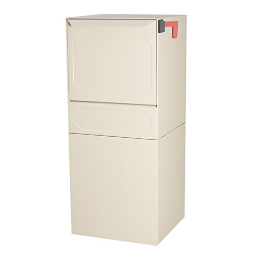 dVault® Parcel Protector Vault DVU0050 Locking Post/Column Mount Mailbox (Sand) Mount Mailbox Sand