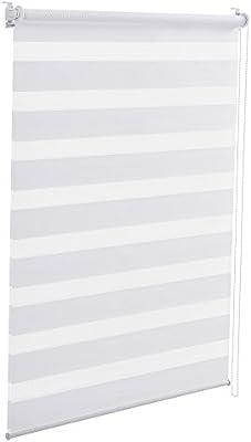 Bestseller einkaufen populärer Stil zuverlässiger Ruf [neu.holz] Klemmfix Zebra-Rollo (70 x 150cm) (weiß) Duo-Rollo / Doppelrollo  - Sonnen - und Lichtschutz - ohne Bohren