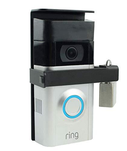 POPMAS Metal Locking Mounting Plate,Wireless Doorbell Anti theft-Lock Bracket Burglar Security Support Wedge Kit Ring 2 Wi-Fi Enabled Video Doorbell with Lock and Key