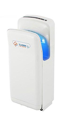 BauKreis rockner para ba/ños Jet Dryer Classic/ /Color Blanco /R/ápido y potente secador de manos con hecha a mano en seco suelo Sistema/