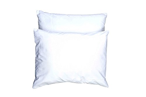 YourEcoFamily Toddler Pillows-14x19, 100% Certified Organic Shell, Hypoallergenic (White 2 Pack)