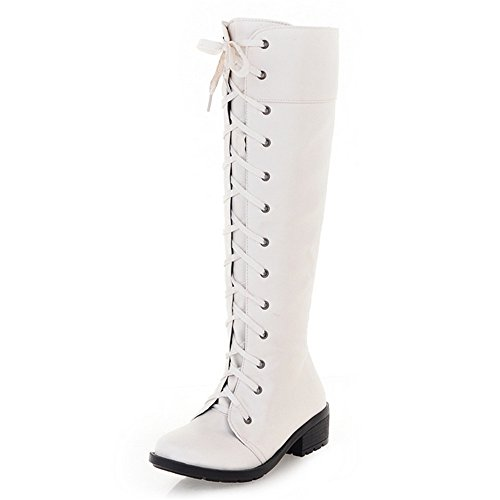 Fashion HeelKnee High Boots - Botas mujer blanco