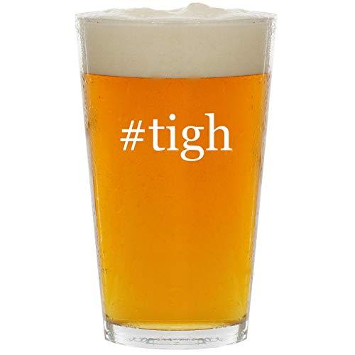 #tigh - Glass Hashtag 16oz Beer Pint
