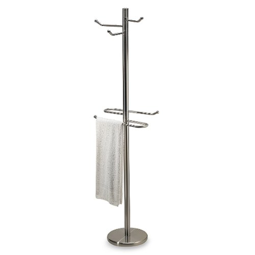 ckel Robe Valet and Swiveling Towel (Valet Stand Satin)