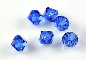 Ab 5301 Bicone Beads - SWAROVSKI ELEMENTS Crystal #5301 3mm Bicone Beads Sapphire AB (25)