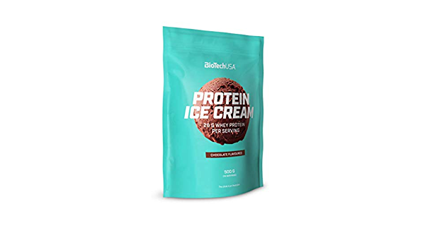 BioTech USA Protein Ice Cream Paquete de 1 x 500g Concentrado de Proteína de Suero en Forma de Helado (Strawberry)