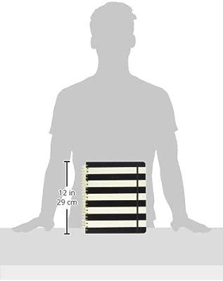 kate spade new york 2016-17 Jumbo Spiral Agenda, Black Stripe