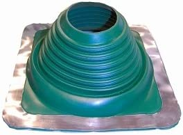 "#5 Square Dark Green Pipe Flashing 4"" - 7"""