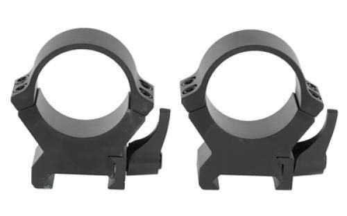 Leupold, QRW2 Quick-Release Weaver-Style Rings, 30mm Tube Diameter, High Height, Matte Black