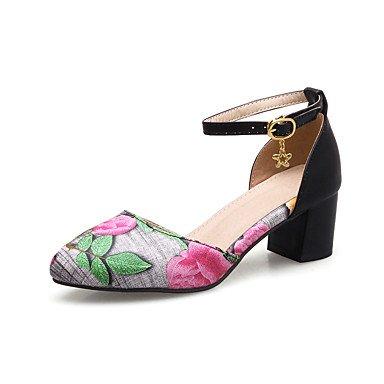 Zapatos azules de verano oficinas para mujer n6riMs