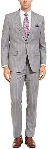 メンズ ストライプ スーツ 上下セットアップ 大きいサイズ 通勤 紳士服カジュアル