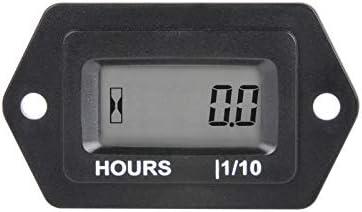 Jayron Digital LCD Horas Medidor Voltaje AC/DC 5 V a 277 V,No Polarizado,Instalación a Presión,Diseño Impermeable para ZTR Cortacésped Tractor Generador Club Car Compresor