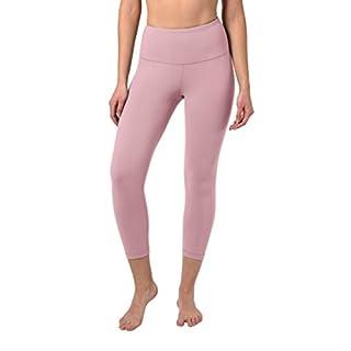 90 Degree By Reflex - High Waist Tummy Control Shapewear - Power Flex Capri - Shadow Petal - Large