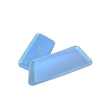 CKF 10sbl, # 10S azul espuma carne bandejas, desechables estándar supermercado (Bundle,