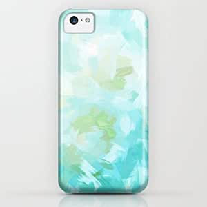 classic - Blossoms - Cyan iPhone & iphone 5c Case by Ylenia Pizzetti