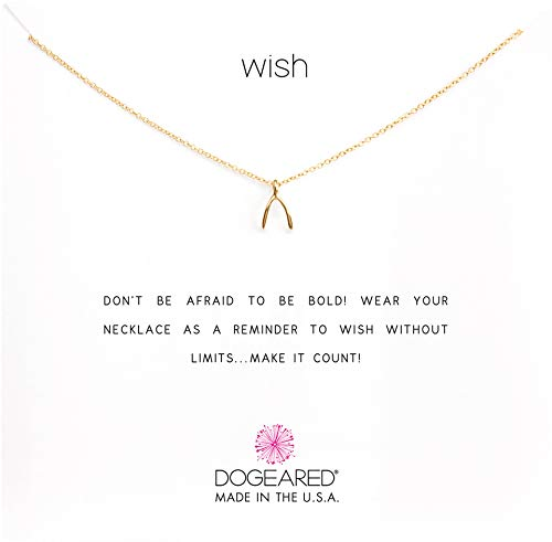 Dogeared Women's Wish Reminder 16 inch Gold One Size