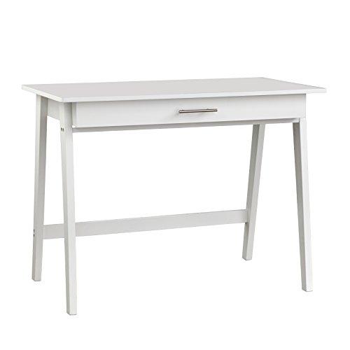 Target Marketing Systems 60707WHT Renata Wooden Home Office Desk, White (Executive Desk Antique)