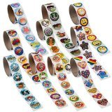[Super Sticker Assortment -1000 Stickers - 10 Rolls] (Roll Stickers)